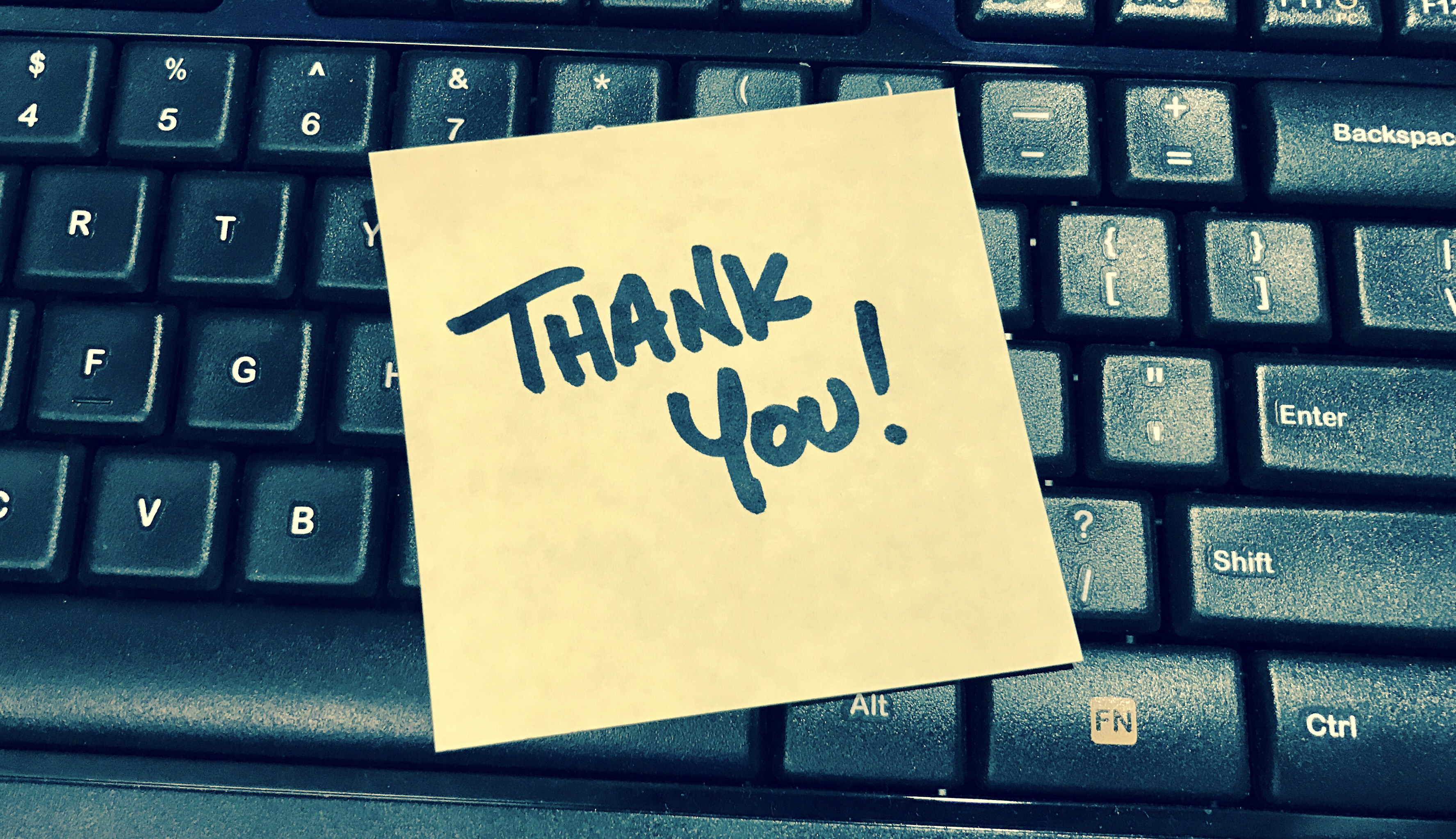 Thank You Post-it note